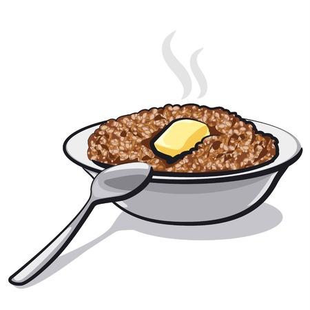buckwheat porridge Ilustração