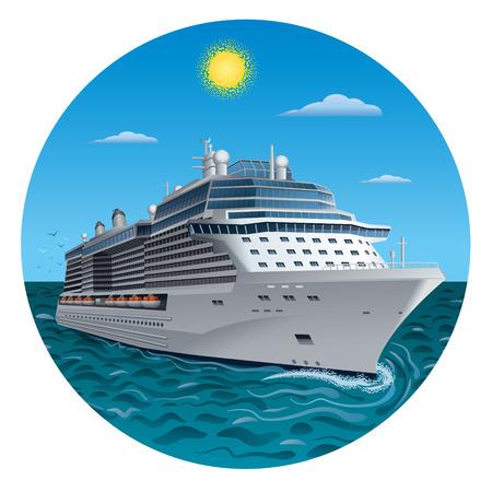 Kreuzfahrtschiff Standard-Bild - 37092716