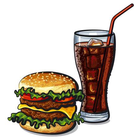 cocacola: hamburger and cola