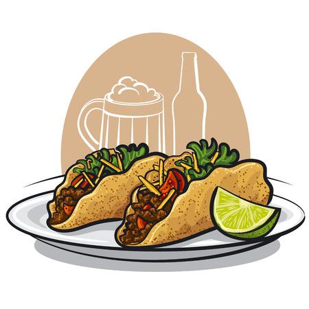 tacos Stock Illustratie