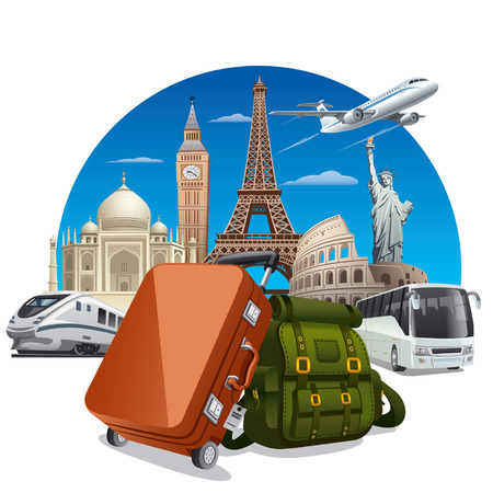 maletas de viaje: concepto de viaje