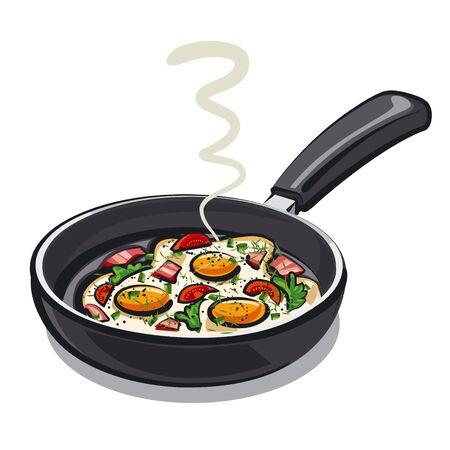 fried food: scrambled eggs