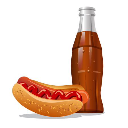 hot water bottle: cola and hotdog