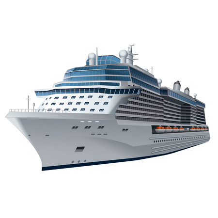 ships at sea: cruise ship