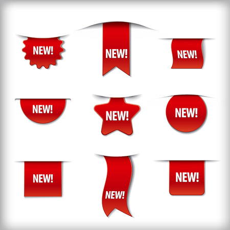 new labels Stock Illustratie
