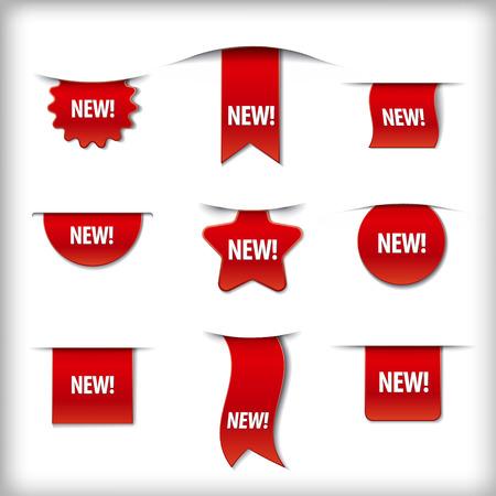new labels Vectores