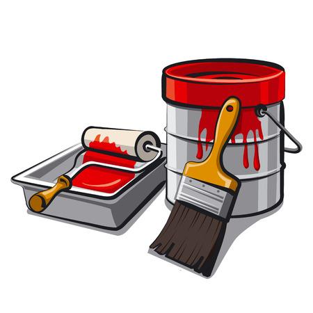 paint spill: paintbucket Illustration