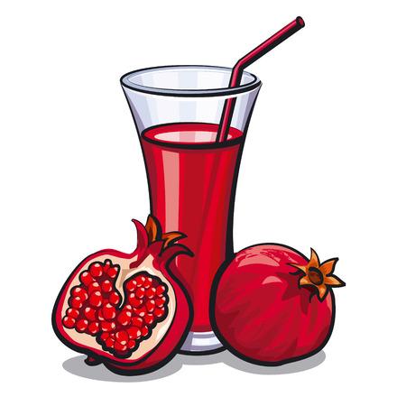 pomegranate juice: pomegranate juice Illustration