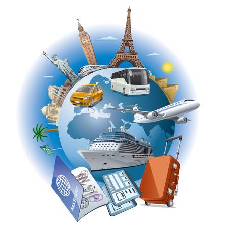 timbre voyage: Voyage d'affaires  Illustration