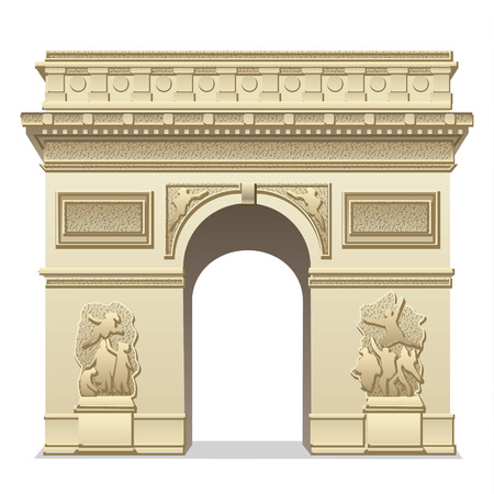 triumphal: triumphal arch Illustration