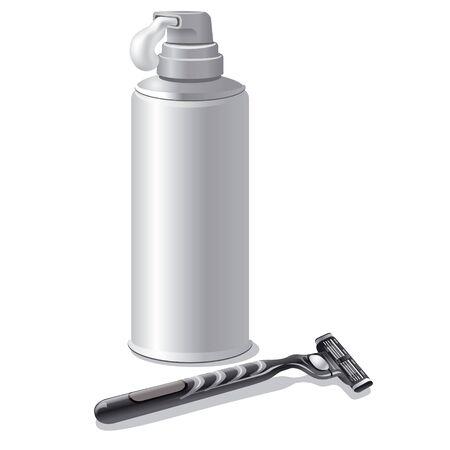 packaging equipment: shaving cream