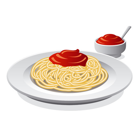 spaghetti bolognese: spaghetti with sauce