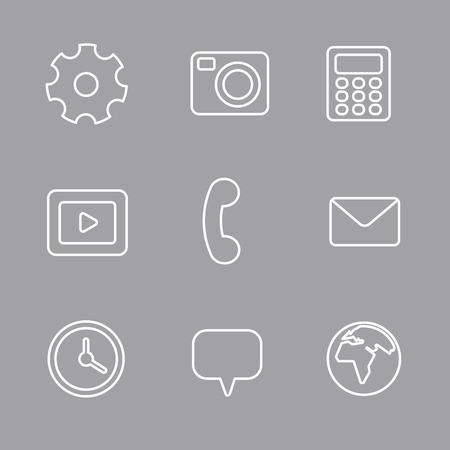 interface icon: interface icon set Illustration