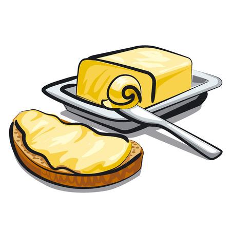 신선한 버터 일러스트