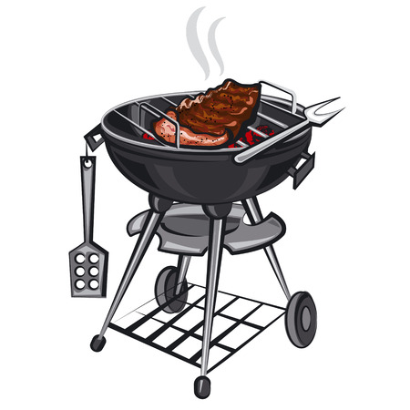 grill: grill with meat