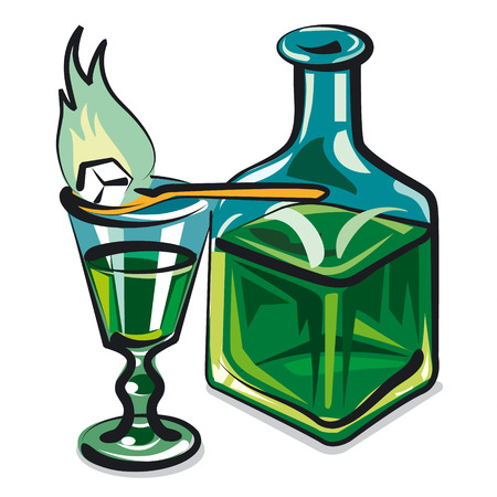 sugar cube: absinthe Illustration