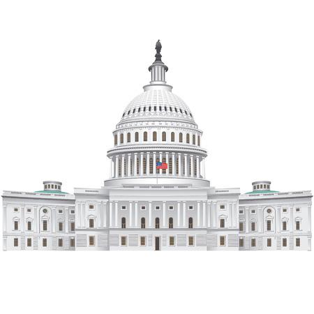 国会議事堂の建物  イラスト・ベクター素材