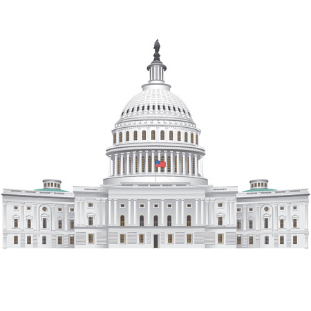 congresses: capitol building Illustration