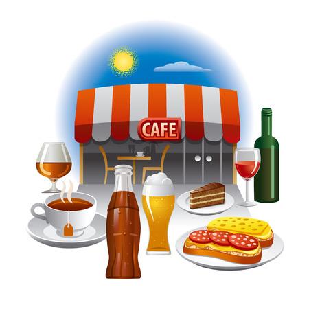 cocacola: cafe service Illustration