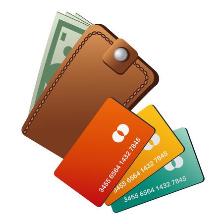 personal banking: portafoglio e carte di credito Vettoriali