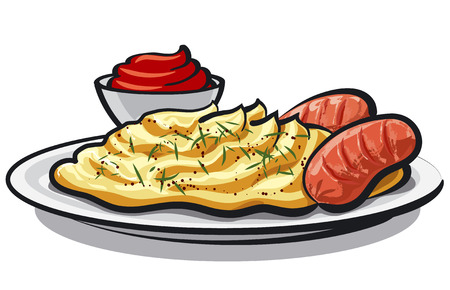 food dish: mashed potatoes Illustration