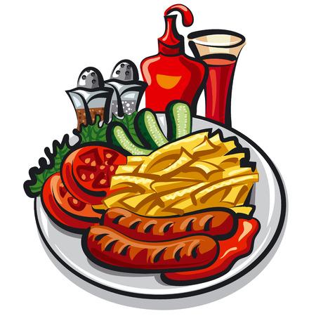 ketchup: ketchup and sausages