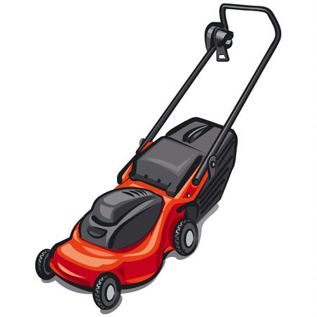 mowing the lawn: lawn mower