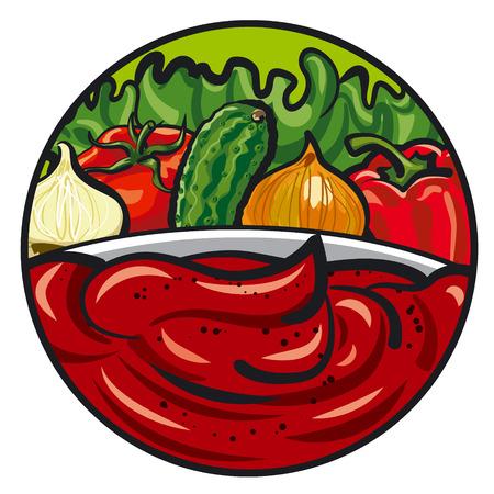 salsa de tomate y verduras