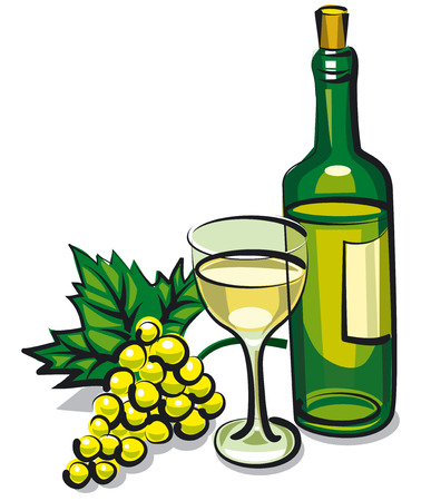 wineries: white table wine Illustration