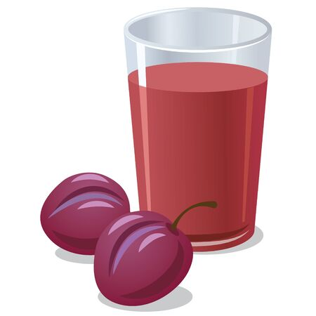 plums: plums juice Illustration