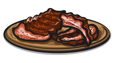 pork rib: spareribs Illustration