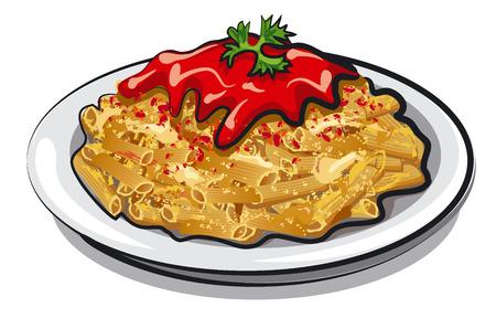 spaghetti bolognese: spaghetti with sause