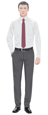 man clothing: man in tie