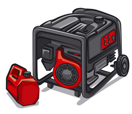 発電機: 発電機  イラスト・ベクター素材