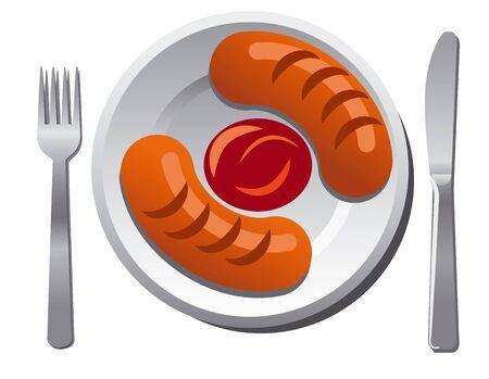 sauce: sausages with sauce