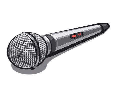 microfono de radio: micr?fono Vectores