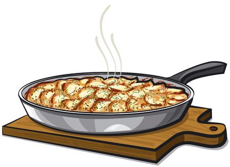 baked potatoes: potato gratin