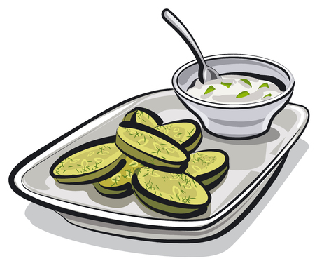 appetizers: baked zucchini with sauce