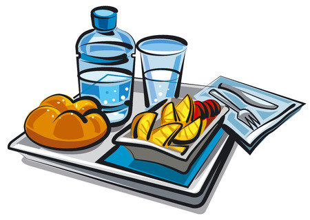 passengers: food for passengers Illustration