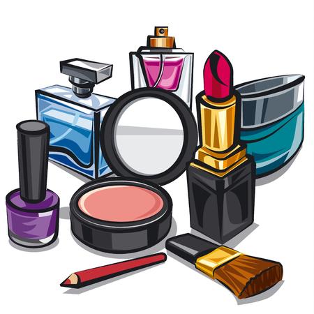 Make-up und Parfum Standard-Bild - 47186286