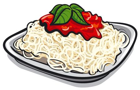 bolognese: spaghetti pasta