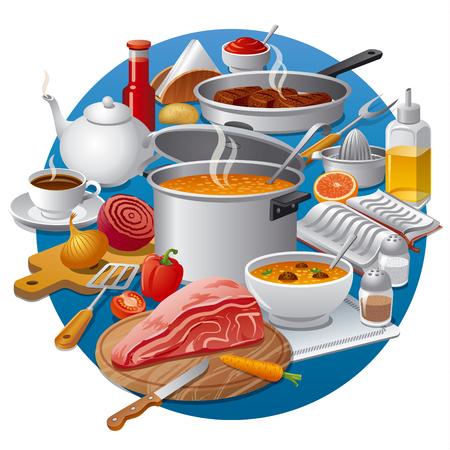 food: cooking food