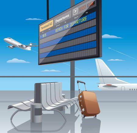 airport departure Illustration