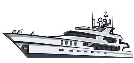 big boat: sea yacht