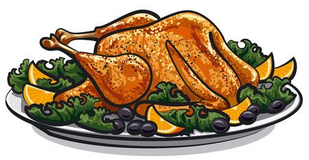 roast: roasted turkey