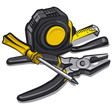 steel construction: hand tools Illustration
