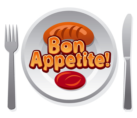 bon: bon appetit icon Illustration