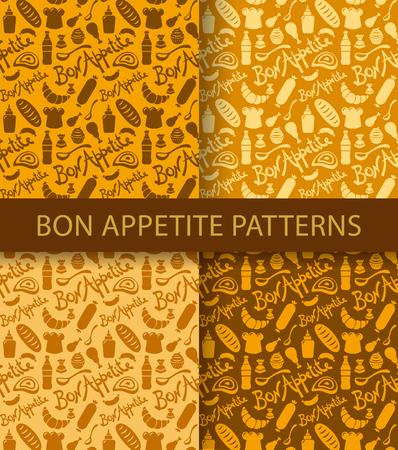 bon: bon appetite seamless pattern