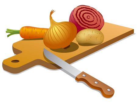 potato salad: cooking vegetables