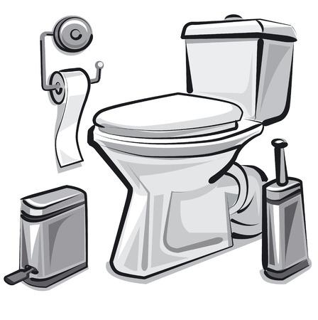 toilete: inodoro Vectores